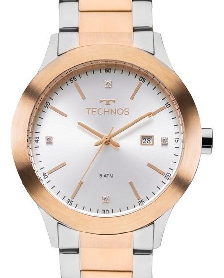 Relógio Technos Feminino Prata / Rose