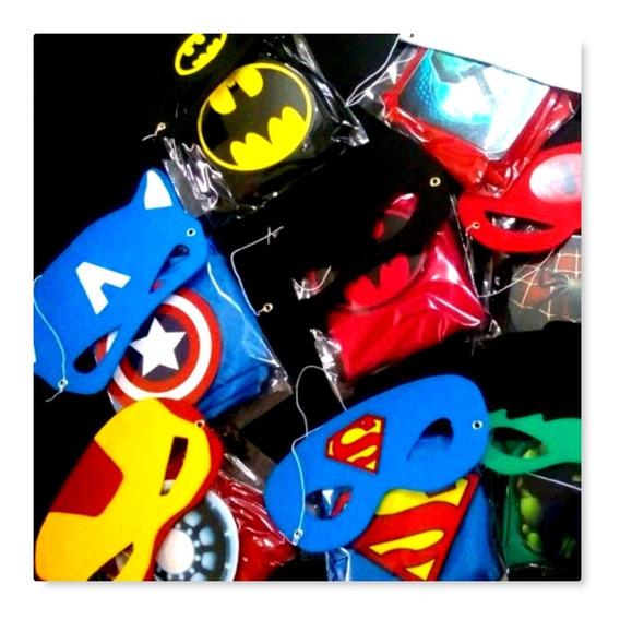 35 Capas Y Antifaz Superheroes Pzs