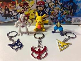 Kit Chaveiro Pokemon Go Instinct, Mystic Ou Valor Kit 3 Pçs