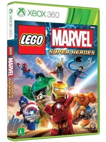 Game Lego Marvel Super Heroes Xbox 360 Disc Dvd Midia Fisica
