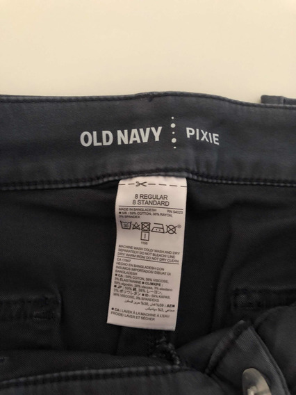 Pantalon Pixie Old Navy Mujer Talle 8 Gris