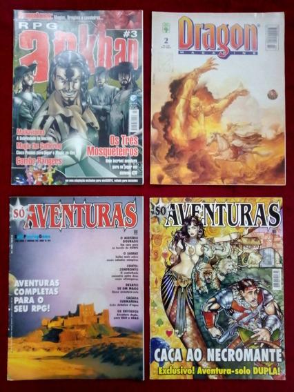 Revistas Rpg - Dragon Magazine + Só Aventuras + Arkhan
