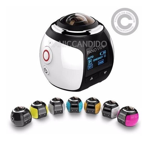 Câmera Sport 360° Ultra Hd - Pronta Entrega + Óculos 3d