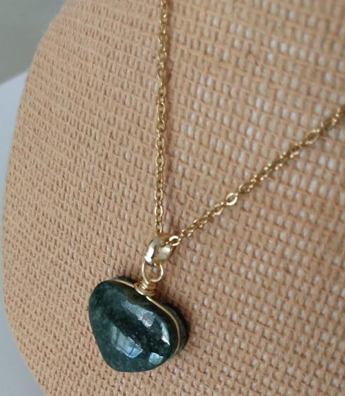 Collar Dije Jade De Guatemala En Forma De Corazón