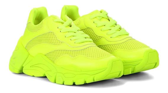 Tênis Chunky Sneakers Doris Feminino Rosa Neon Zatz Damannu