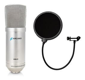 Kit 01 Microfone Arcano Am-01 (st-01) + 01 Pop Filter Am-f1