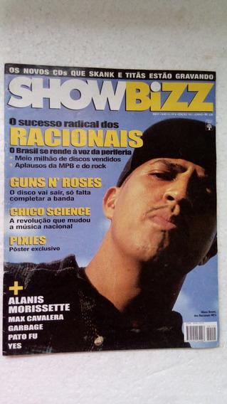 Revista Showbizz Ano 14 Nº06 - Racionais - Pôster Pixies