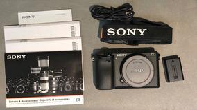 Sony A6300 4k Câmera Semi Nova (1073 Clicks A Melhor Do Ml)