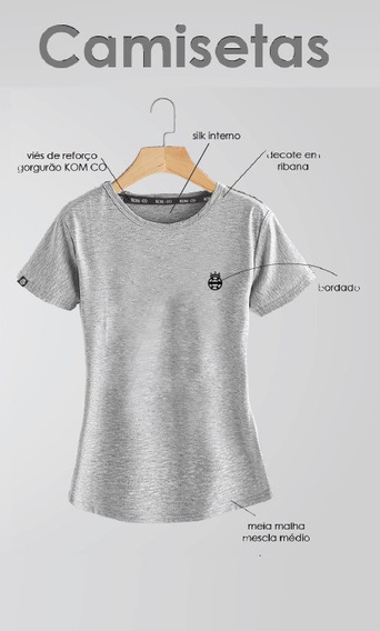 Camiseta T-shirt Feminina Casual Mtb Speed Básica Kom-co