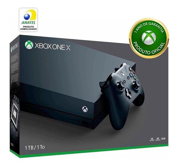 Xbox One X 1tb 4k Envio Imediato 1 Ano De Garantia Microsoft