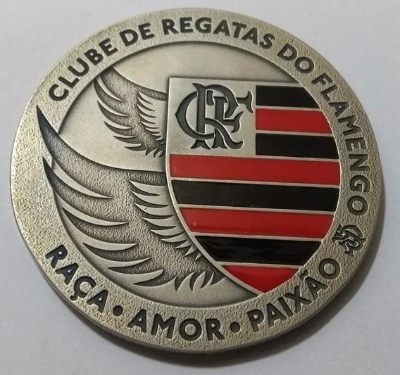 Bb003 Medalha 120 Anos Clube Flamengo 2015 Prata C/ Resina