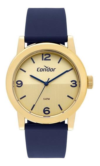 Relógio Condor Azul Com Dourado Co2035mqs/8x