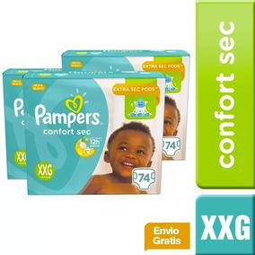 3 Paquetes De Pañales(222u.) Pampers Confort Sec Talla Xxg