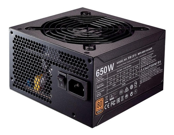Fonte Cooler Master Mwe Bronze 650w 80 Plus Bronze