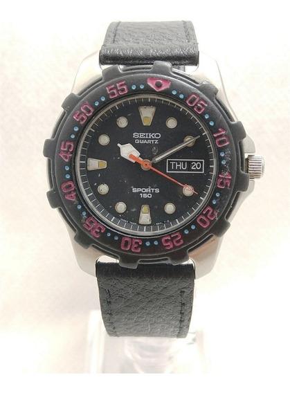 Seiko Quartz Sports Diver 150m 7n33-6a3f Modelo Raro De 1992