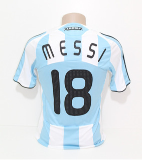 Camisa Original Argentina 2008/2009 Home #18 Messi