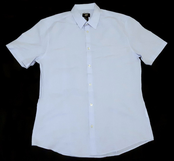 Camisa Casual H&m Slim Fit Original Seminueva Caballero