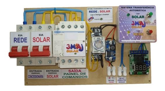 Sistema Transferência Automático Solar Lig/des Inver 63 220v