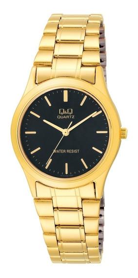 Relógio Analógico Unissex Q&q Dourado - Q712002y
