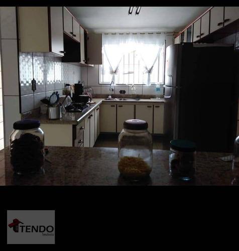 Imagem 1 de 19 de Sobrado 256 M² - Venda - 3 Dormitórios - 1 Suíte - Jardim Miranda D Aviz - Mauá/sp  / Imob03 - So0275