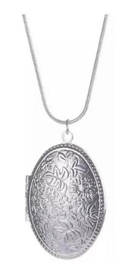 Collar Relicario Plata 925 + Caja Regalo Cadena Foto Joyas