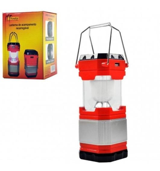 Lampião Lanterna De Acampamento Carrega Celular 110v-220v.