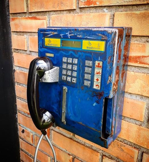 Telefone Antigo Publico Vintage Industrial