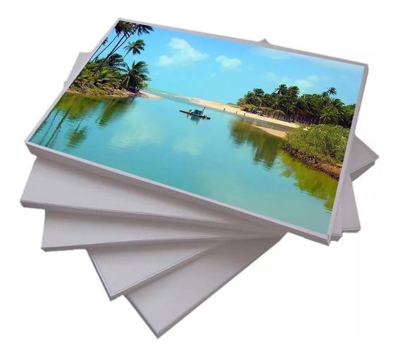 100 Fls A4 Papel Fotografico Adesivo Glossy Brilhante 130g