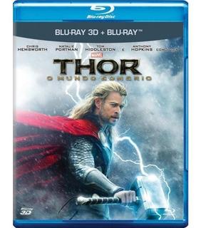Thor O Mundo Sombrio - Blu-ray 3d + 2d - Novo/original