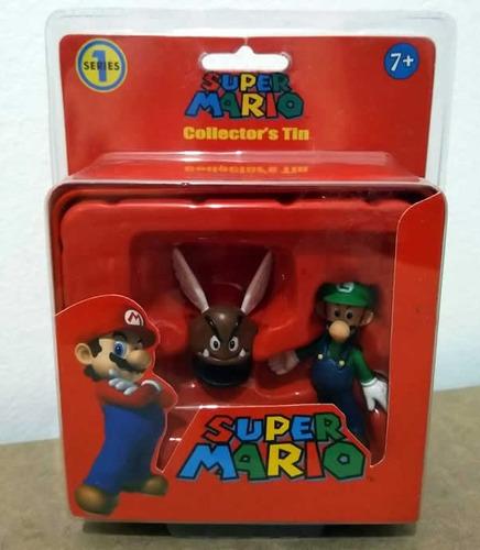 Lata Super Mario Edição Limitada - Miniatura Luigi E Goomba