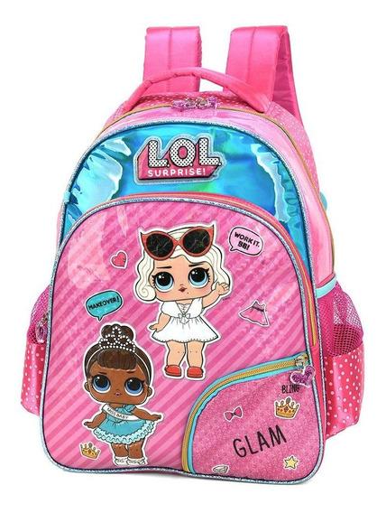Mochila Escolar Infantil Boneca Lol Surprise Rosa Original