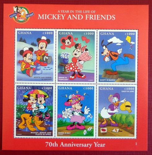 Ghana Infantil, Bloque Sc. 2008 Mickey 1998 Mint L7704