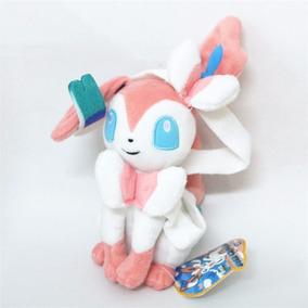 Pokemon Eevee Sylveon Rosa E Branco - Brinquedo Meninas