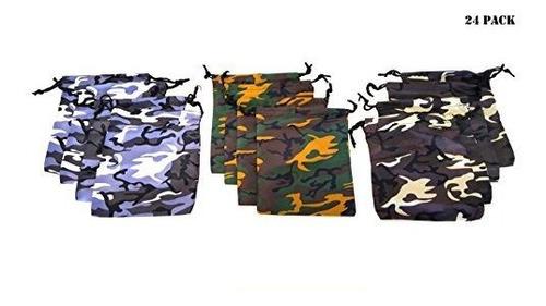 Imagen 1 de 5 de Pack De 24 Bolsos De Camuflaje Dondor Camuflaje