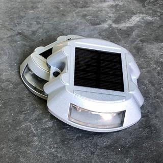 Tacha Solar Led Vial Intermitente Blanca - Excelente Calidad