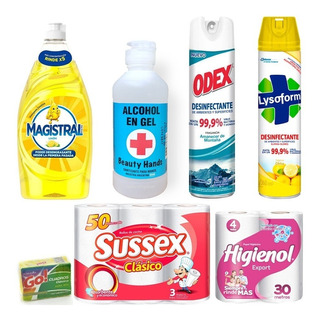 Detergente Magistral Concentado Combo Lysoform Alcohol Papel