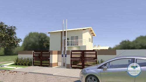 Casa Com 2 Dormitórios À Venda, 58 M² Por R$ 310.000,00 - Jardim Lindomar - Área Verde - Itanhaém/sp - Ca0593