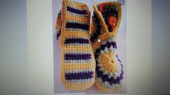 Pantuflas Y Medias Al Crochet