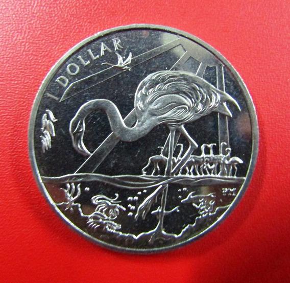 Islas Virgenes Britanicas 1 Dolar 2015 Unc Niquel Fauna Flamencos