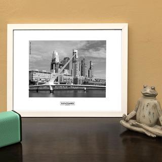 Lámina Foto Puente De La Mujer Buenos Aires 40 X 30 Cm