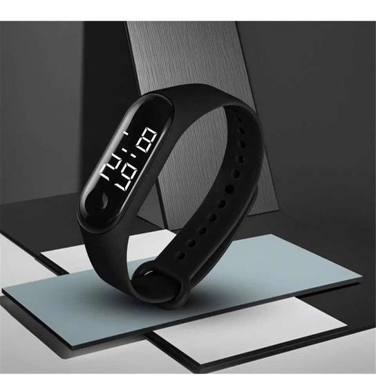 Relógio Digital Esportivo Bracelete Led Masculino