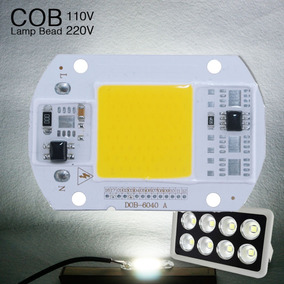 Chip Smart Cob Led 50w 220v Ac Branco Frio 6000k Refletor