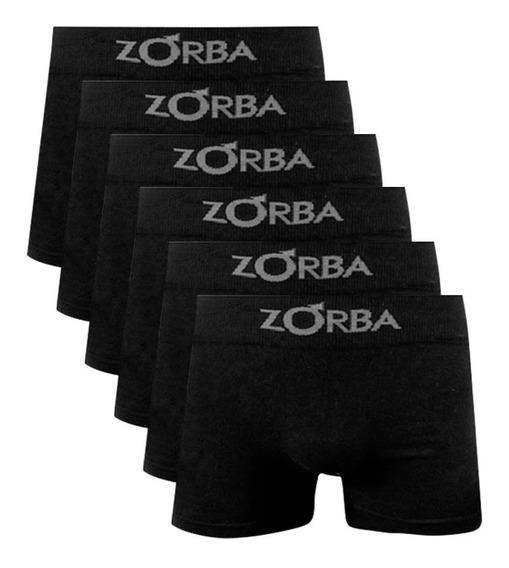 Kit Com 6 Cuecas Boxer Algodão Sem Costura Zorba 781