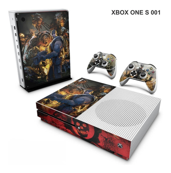Skin Adesiva Para Xbox One S (slim) Gears Of War