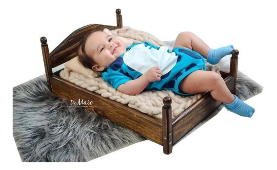 Caminha Envelhecida Prop Foto Newborn Acompanhamento Bebê