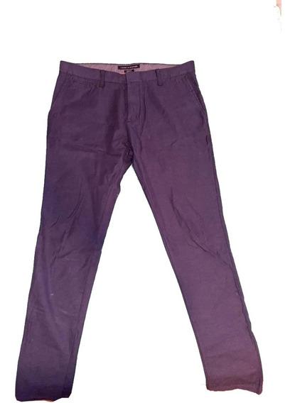 Pantalón Tommy Hilfiger - Azul Marino - Vestir Nuevo