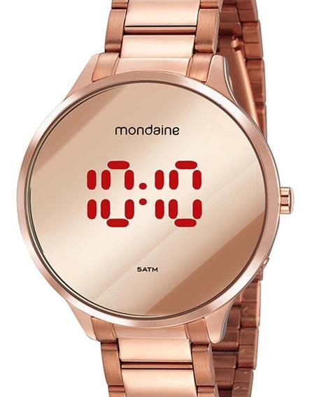 Relógio Mondaine Redondo Digital 32060lpmvre2 Rose C/ Nf-e