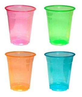 Party Esencia Vasos Y Vasos Vasos Plástico 12 Onzas Neón Sur