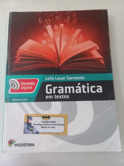 Gramática En Texto Vereda Digital Editora Moderna