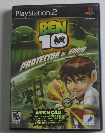 Capa, Manual E Disco Defeito Ben 10 Protector Of Earth Ps2